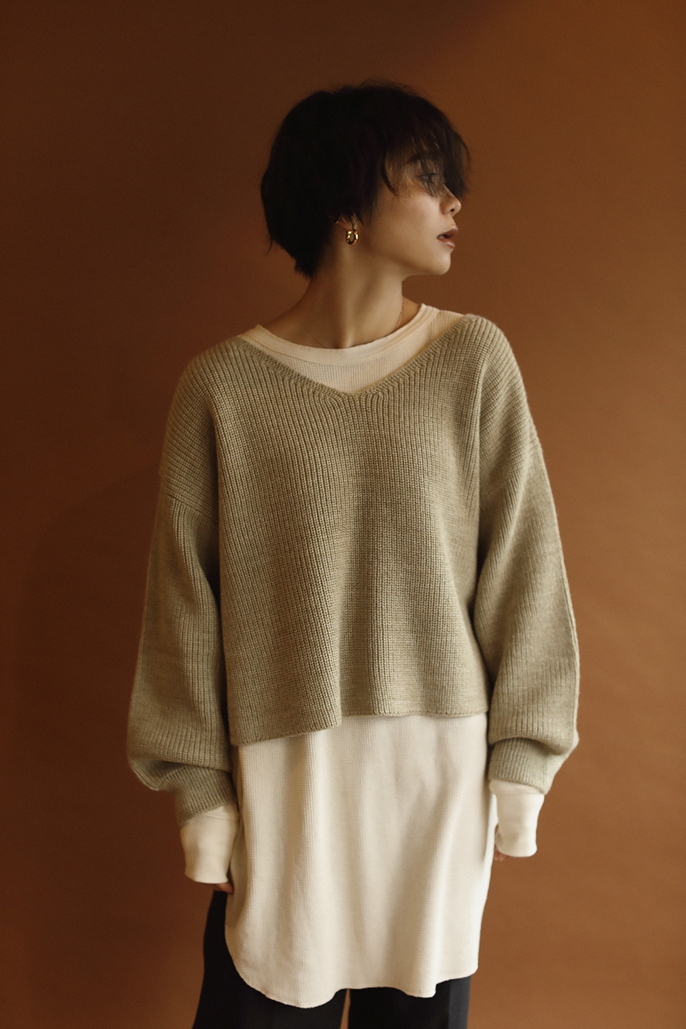 short length volume knit