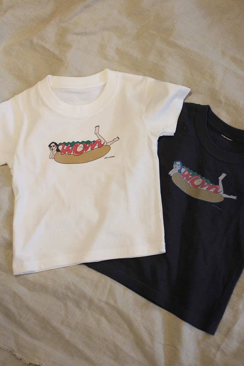 HOT DOG GIRL PRINT KIDS TEE