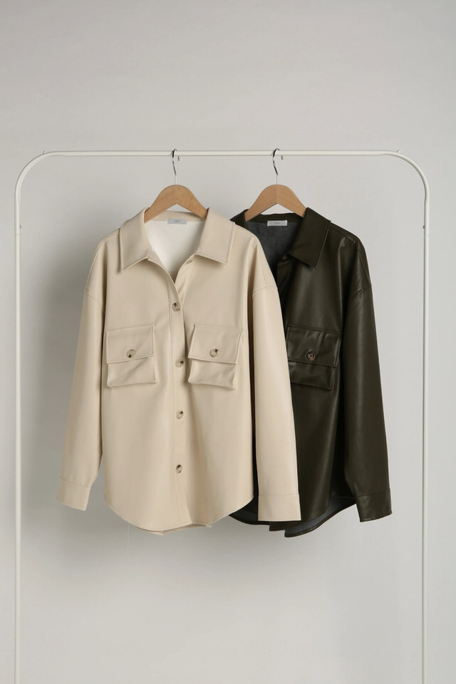 eco leather cpo jacket